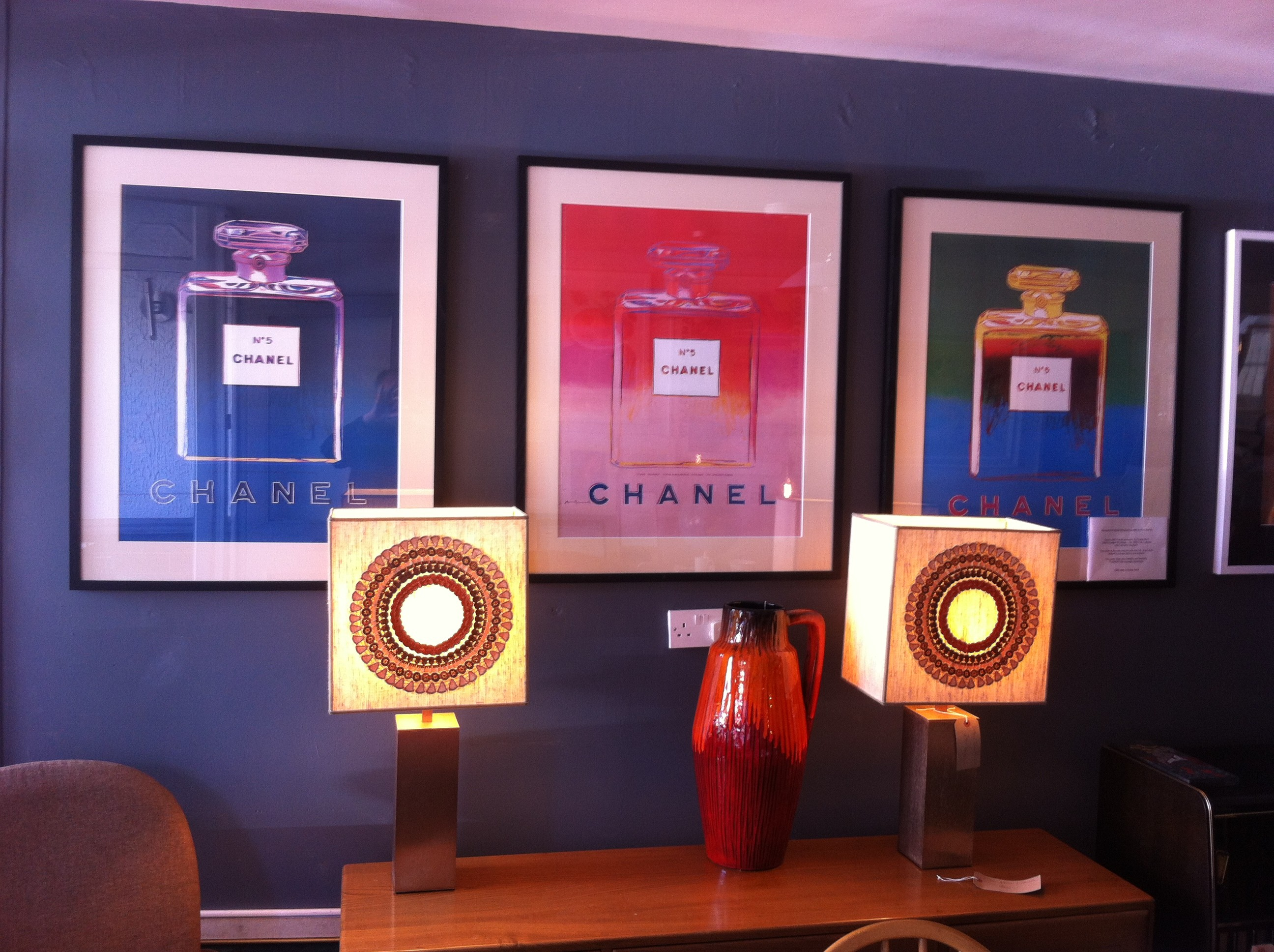 Andy Warhol Chanel No 5 Poster. Green and Blue. Back in stock ...