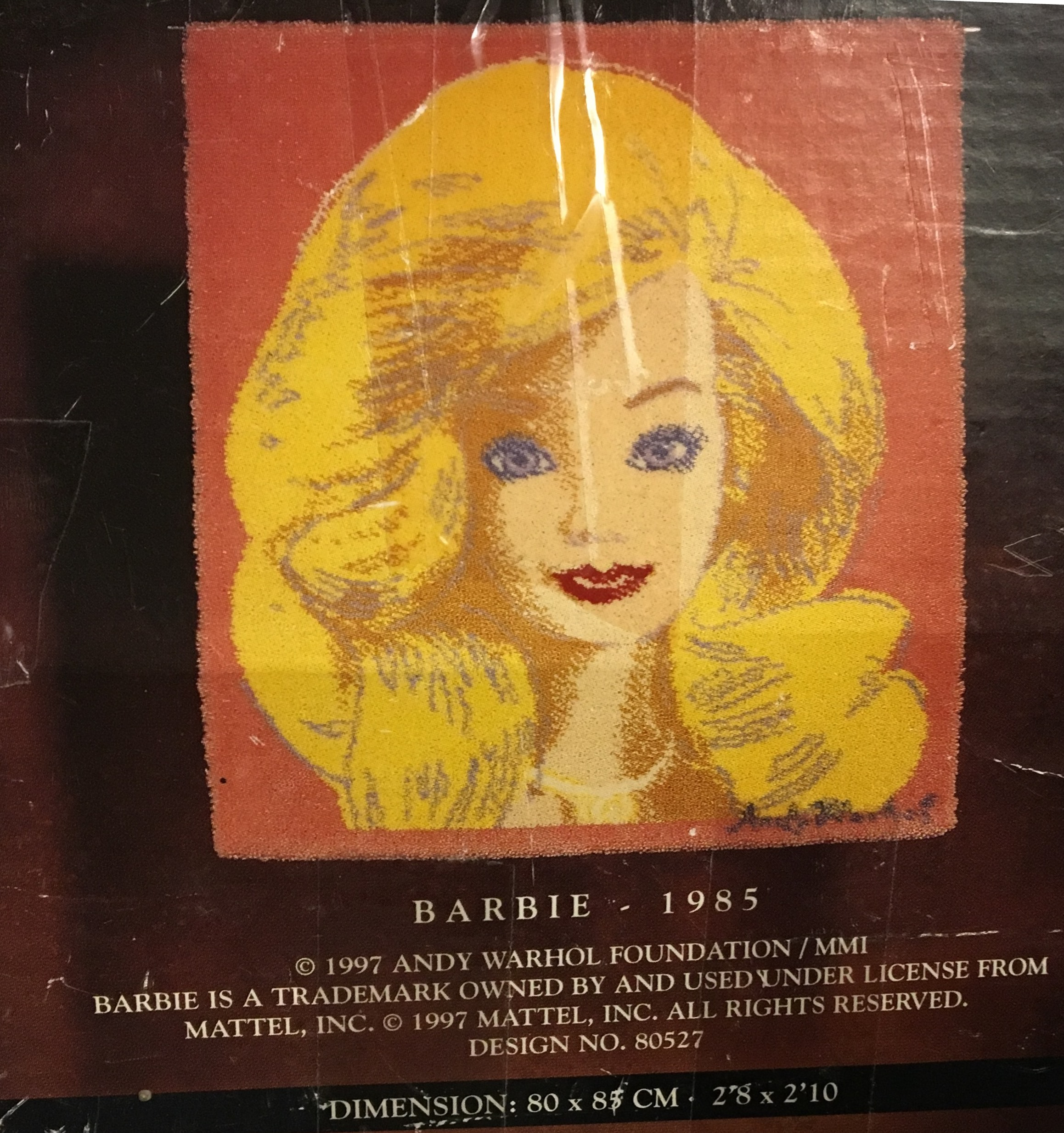 Andy Warhol. Barbie wall art rug. By ege of Denmark. 100% Wool ...