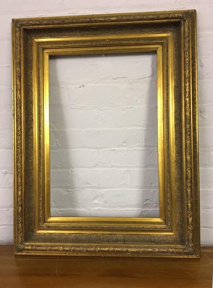 Large Gilt picture frame. Excellent moulding detail.   Butler & Brown